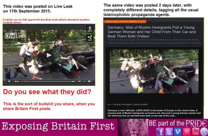 Exposing Britain First #Islamophobia - Car Mob